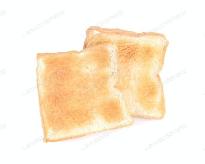 Toast slice bread  on white background.