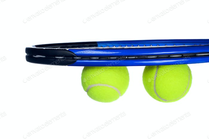 Tennis equipment isolated on white