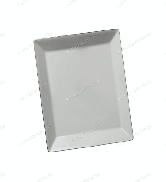 Platte isoliert auf weißem Hintergrund