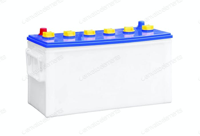 accumulator battery isolate on white