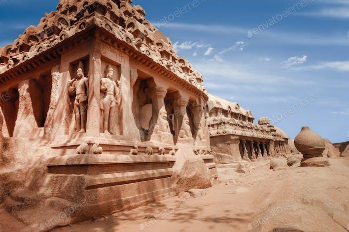 Hindu Temple in Mahabalipuram. World Heritage in South India