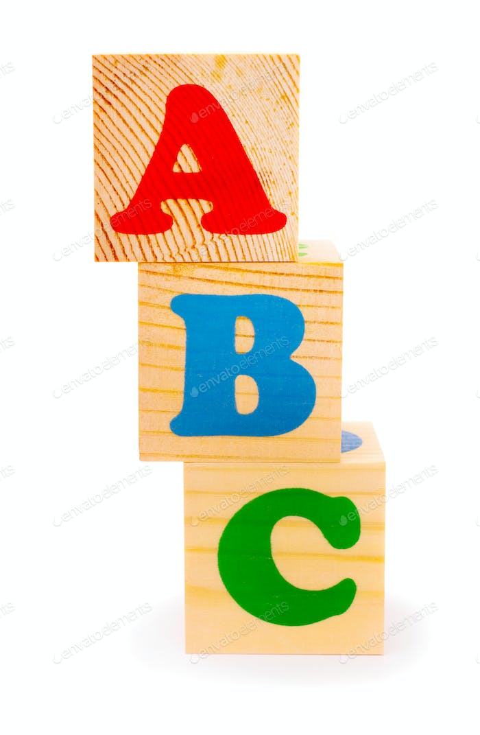 Alphabet letter ABC blocks