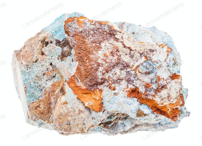 specimen of Scorodite stone (Arsenic ore) isolated