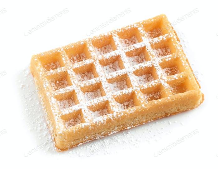 waffle with powdered sugar