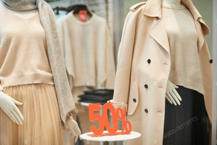 Sale Sign on Display in Store