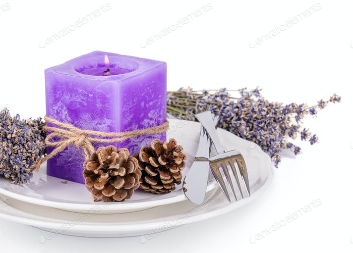 Lavender candle