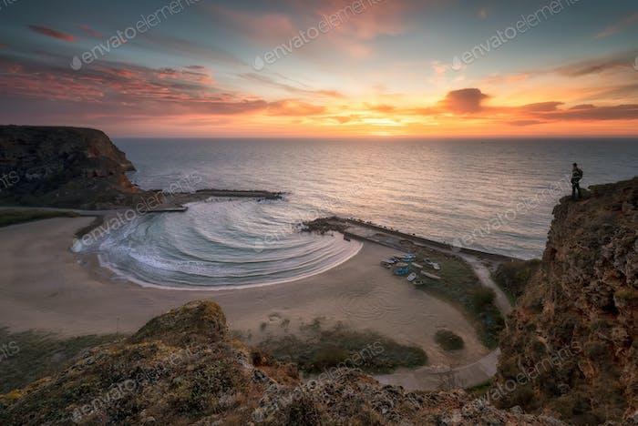 Sunrise at the Black sea coast