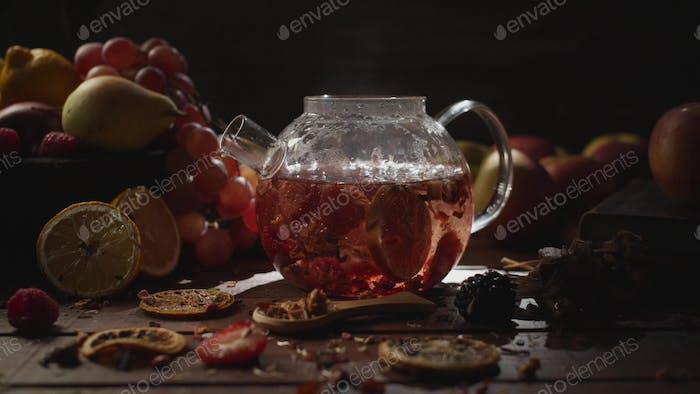 Making fruit tea