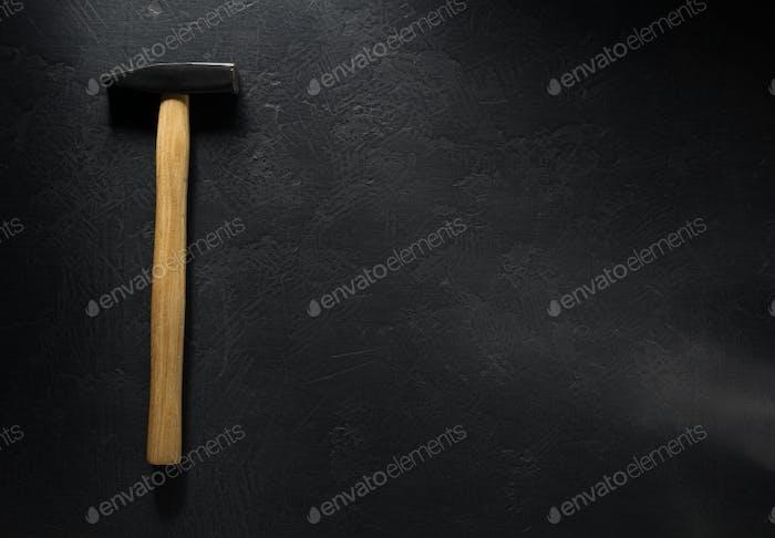 hammer tool  on black