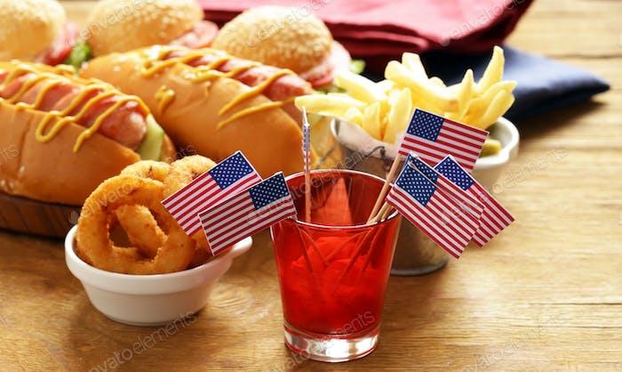 Snacks für Tag der Unabhängigkeit