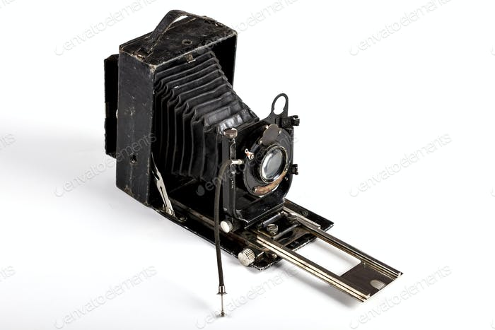 Old Camera on White
