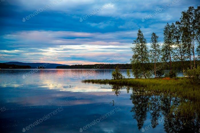 Sonnenuntergang Schöne Natur Norwegen.