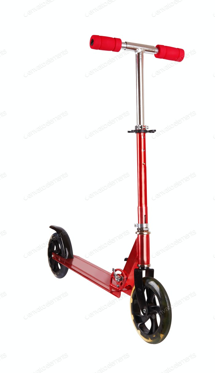 Roter Metall-Roller
