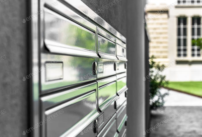 Close up of letterboxes