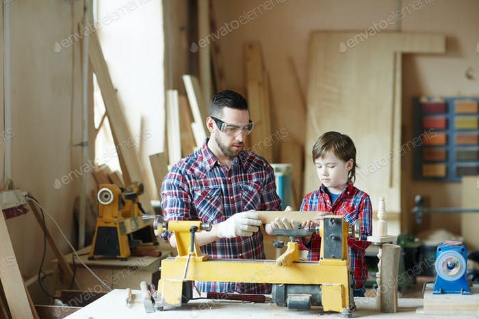 Teaching son