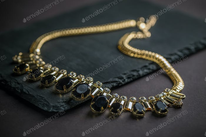 Necklace with gems