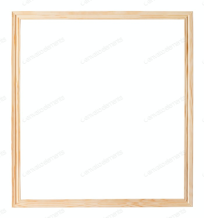 simple narrow unpainted wooden picture frame