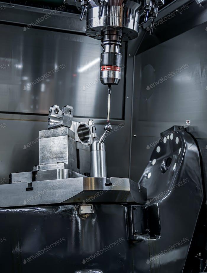 Qualitätskontrolle Messsonde Metallbearbeitung CNC Fräsmaschine
