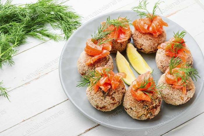 Homemade fish meatballs