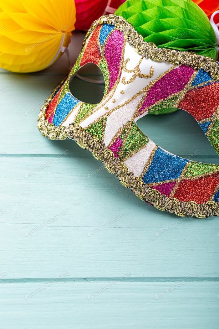 Festive background with carnival mask