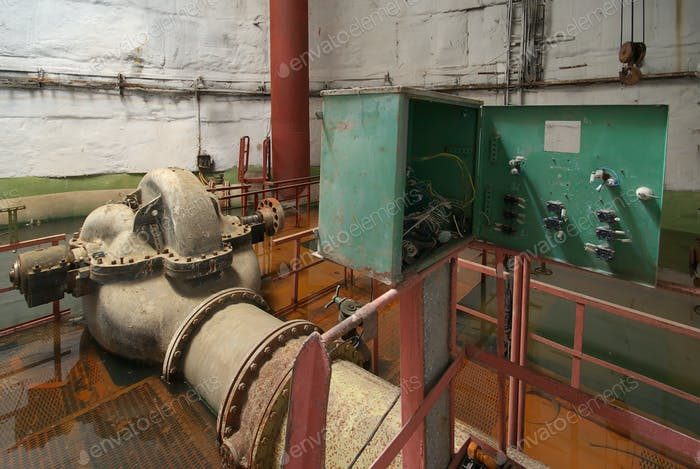 Old rusted pump station.