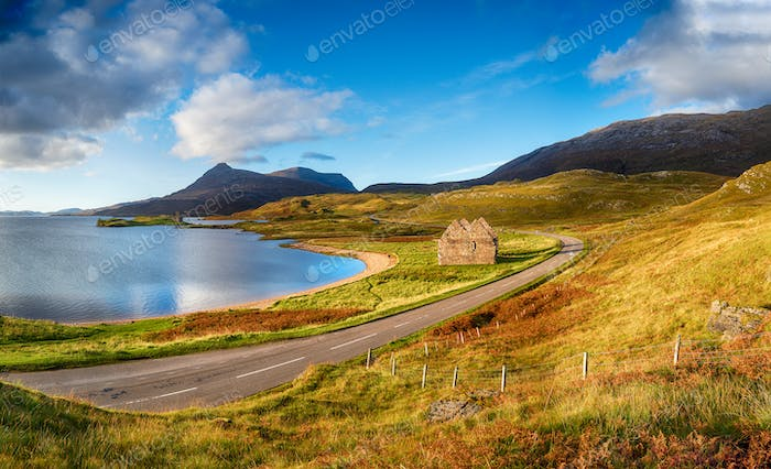 Autumn at Loch Assynt