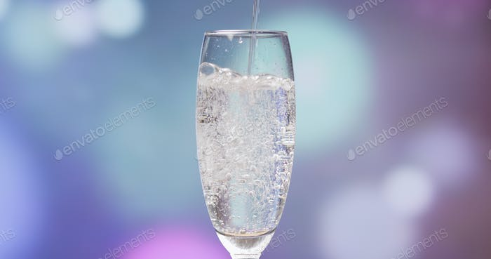 Pouring glass of Champagne