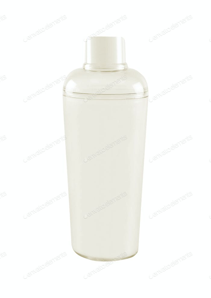 Plastic glass isolated on white