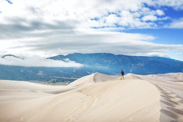 Große Sanddünen