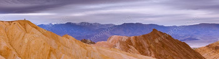 Hiking in Death Valley epic panoramic landscape
