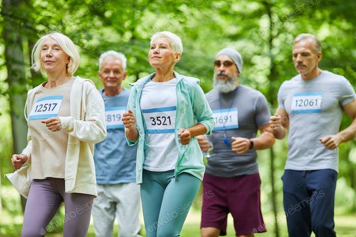 Senior Men And Women Running
