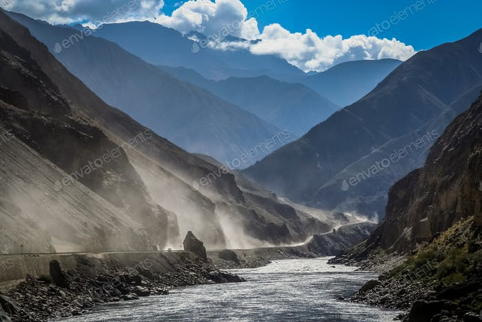 Road from Tibet to Yunnan in China