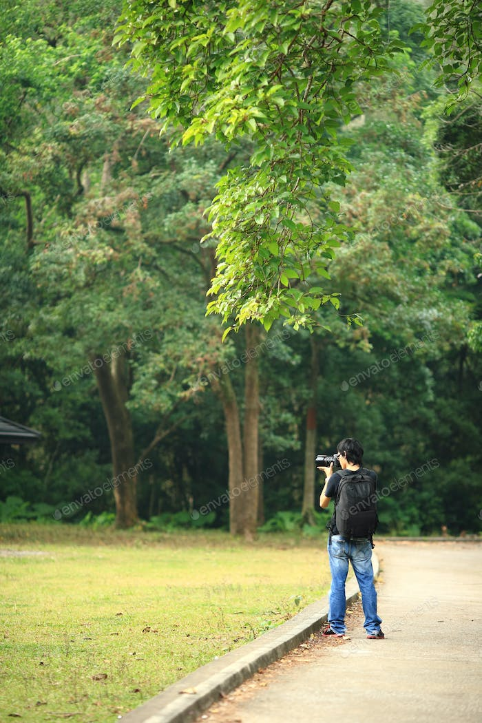 photographer in country side