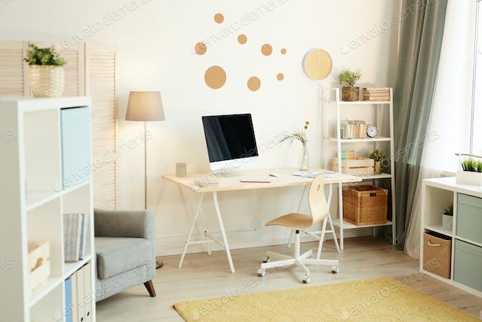 Modern Workspace At Home