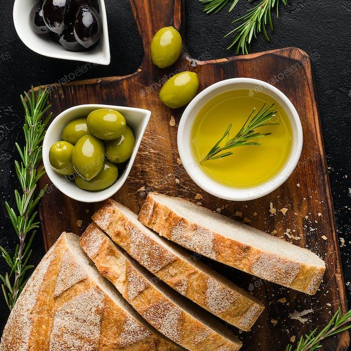 Mediterranean food concept