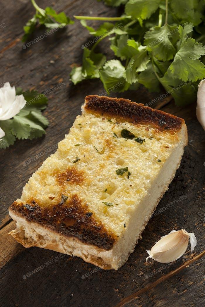 Homemade Crunchy Garlic Bread