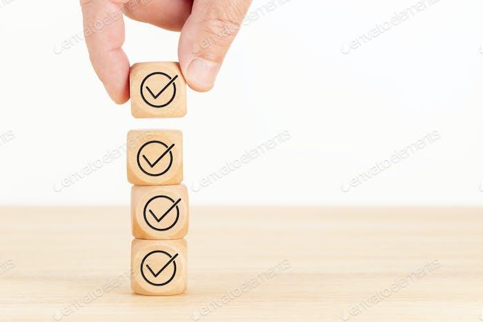 Konzept der Prüfung oder Checkliste