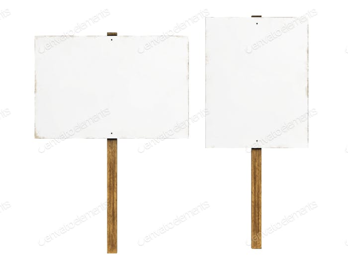 Protest Signs Isolated  - 3D Illustration