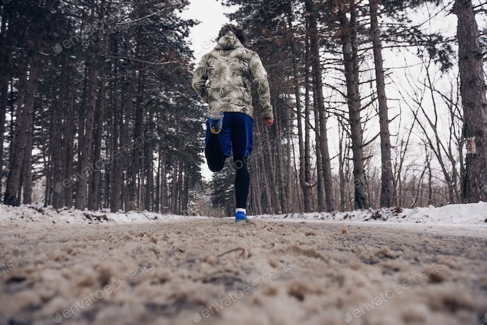 Running on a winter day