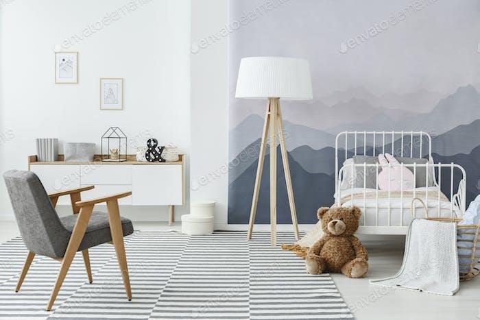 Mountain Kinderschlafzimmer Interieur