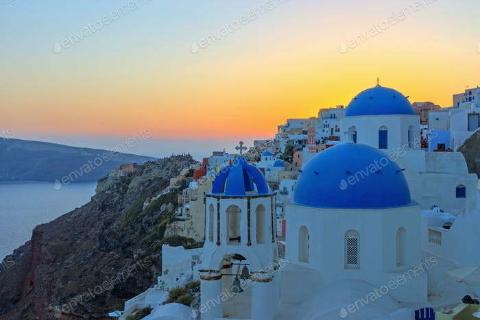 Last sunlight in Oia