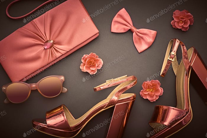 Fashion Design Woman Accessories Set.Glamor Makeup