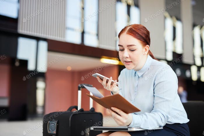 Woman Callip Airport Hotline
