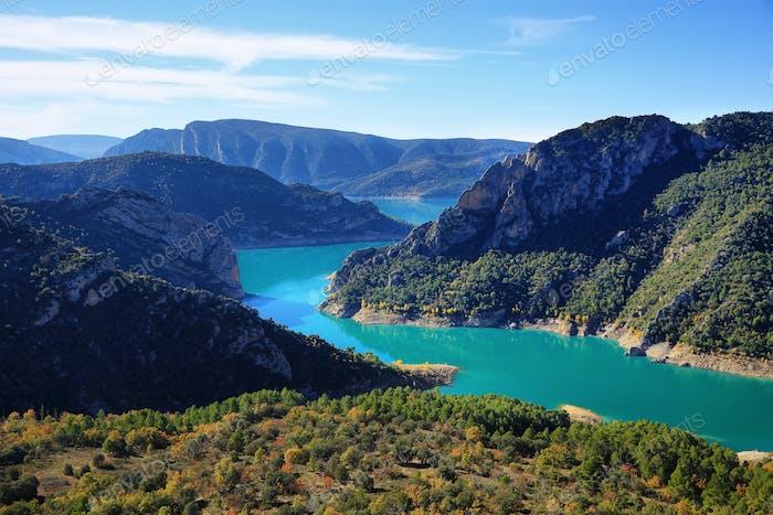 Spectacular cliff  in Montrebei, Catalonia