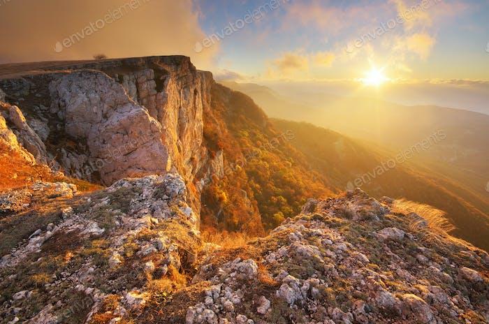 Mountain autumn nature landscape