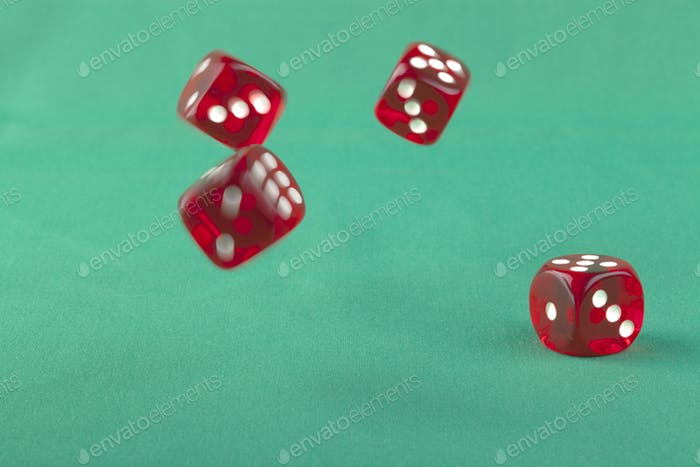 Bouncing Red Dice