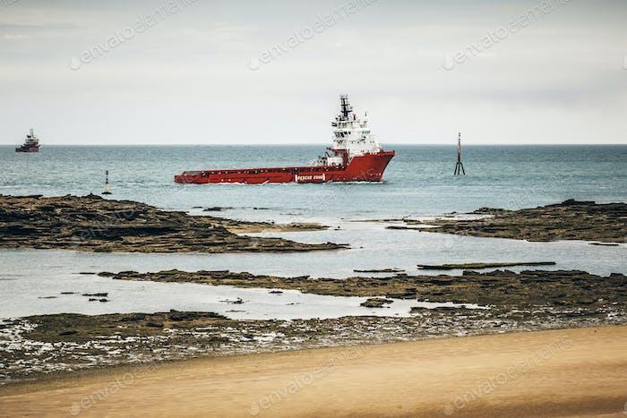 ship at the coast