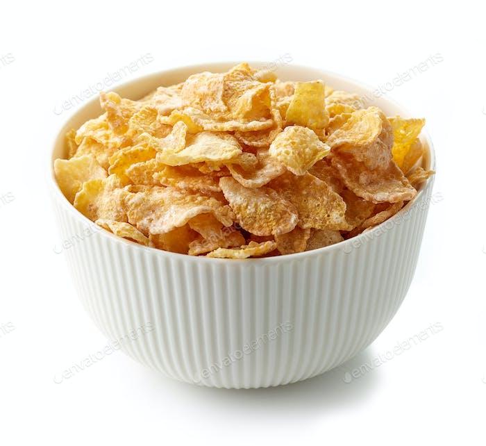 bowl of breakfast cornflakes