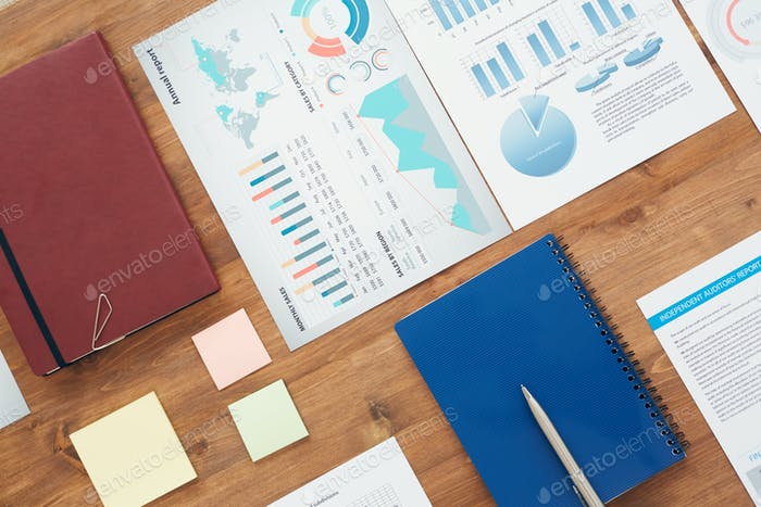 Flatlay Business Background
