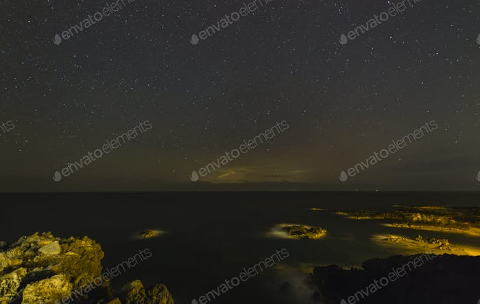 Stars Above The Coast Of La Palma